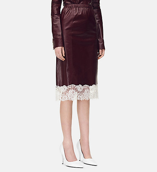 205W39NYC Shiny Plonge Skirt - MULBERRY - 205W39NYC CLOTHES - main image