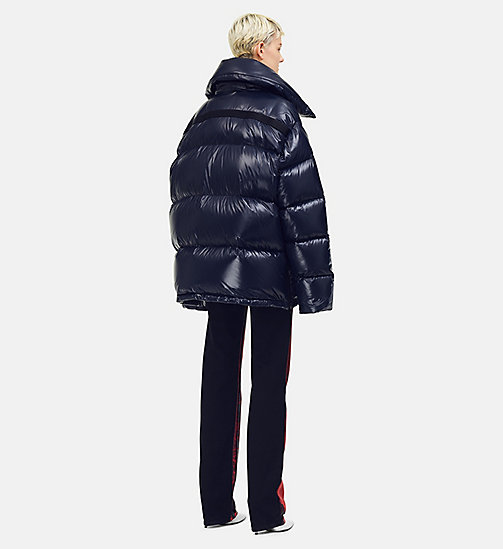 205W39NYC Oversized Nylon Puffer Jacket - NAVY - 205W39NYC CLOTHES - detail image 1
