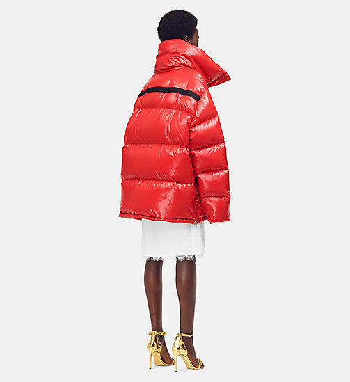 205W39NYC Oversized Nylon Puffer Jacket - ORANGE RED - 205W39NYC CLOTHES - detail image 1