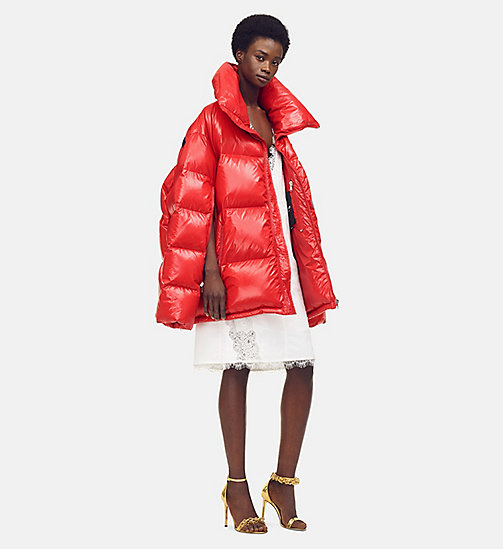 205W39NYC Oversized Nylon Puffer Jacket - ORANGE RED - 205W39NYC CLOTHES - main image
