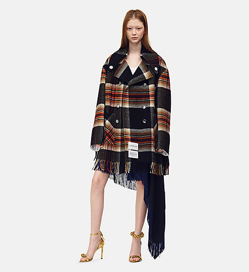 205W39NYC Fringed Caban in Pendleton Plaid Wool - RED YELLOW BLUE BLACK - 205W39NYC CLOTHES - main image