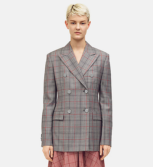 205W39NYC Wall Street Blazer in Check Wool - BLACK WHITE GRENADINE - 205W39NYC CLOTHES - main image