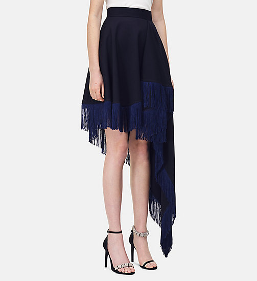 205W39NYC Flag Fringed Skirt in Wool Twill - DARK NAVY - 205W39NYC CLOTHES - main image