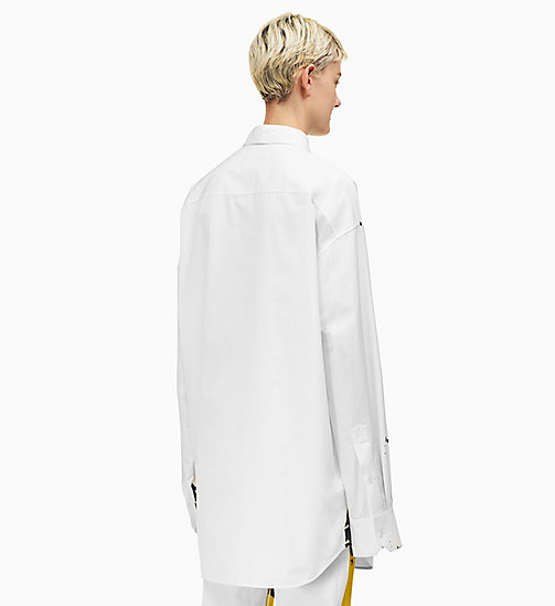 205W39NYC Oversized Flowers Poplin Shirt - OPTIC WHITE BLACK - 205W39NYC CLOTHES - detail image 1