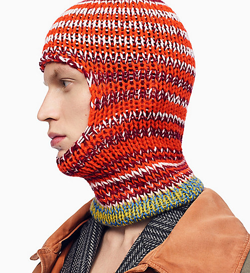 205W39NYC Balaclava met averecht gebreide strepen - ORANGE RED OFF WHITE BURGUNDY ROYAL BLUE - 205W39NYC KLEDING - main image