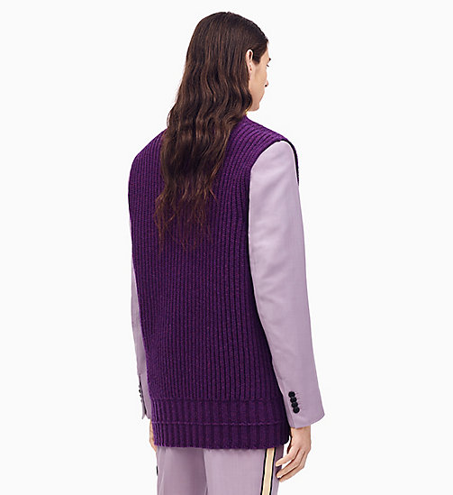 205W39NYC Oversized V-Neck Knit Sleeveless Jumper - HIBISCUS - 205W39NYC CLOTHES - detail image 1