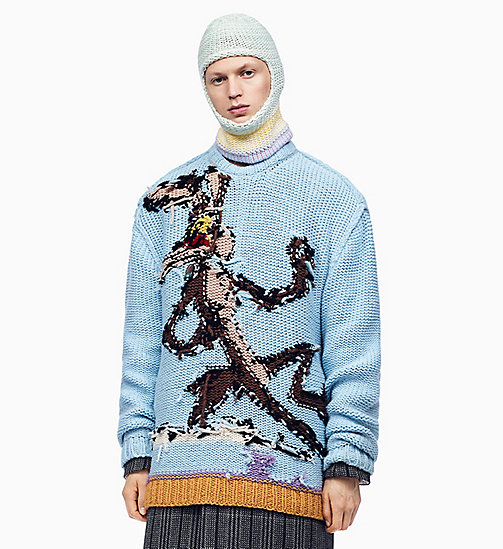 205W39NYC Wile E. Coyote Reverse Intarsia Jumper - SKY BLUE MULTICOLOR - 205W39NYC CLOTHES - main image