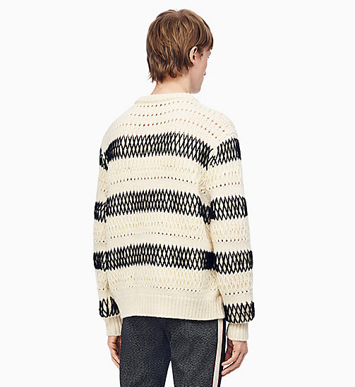 205W39NYC Striped Embroidered Knit Jumper - ECRU BLACK - 205W39NYC CLOTHES - detail image 1