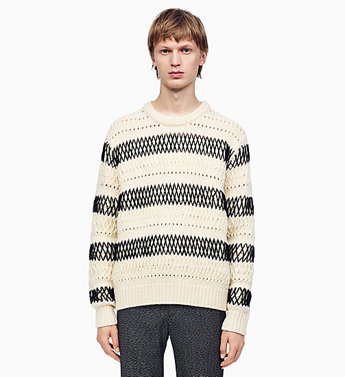 205W39NYC Striped Embroidered Knit Jumper - ECRU BLACK - 205W39NYC CLOTHES - main image