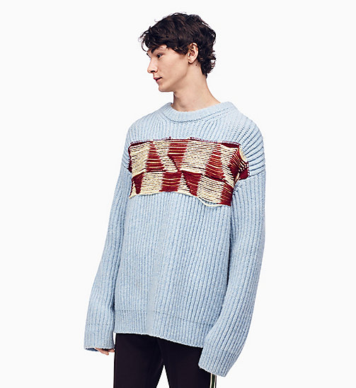 205W39NYC Quilted Jacquard Knit Jumper - DAWN BURGUNDY WHITE YELLOW - 205W39NYC CLOTHES - main image