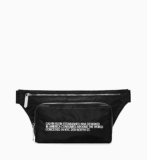 205W39NYC Embroidered Bum Bag - BLACK/ WHITE - 205W39NYC SHOES & ACCESSORIES - main image