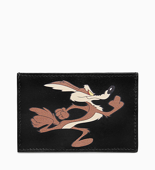 205W39NYC Wile E. Coyote Small Card Case - BLACK - 205W39NYC SHOES & ACCESSORIES - main image