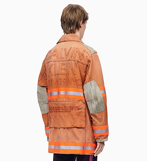 205W39NYC Distressed Fireman Jacket - LIGHT CHESTNUT - 205W39NYC CLOTHES - detail image 1