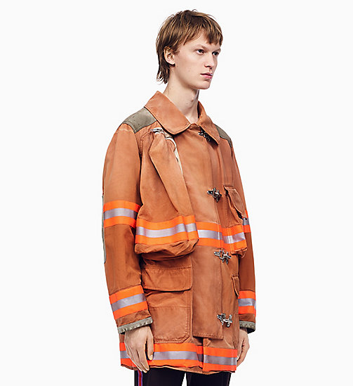 205W39NYC Distressed Fireman Jacket - LIGHT CHESTNUT - 205W39NYC CLOTHES - main image
