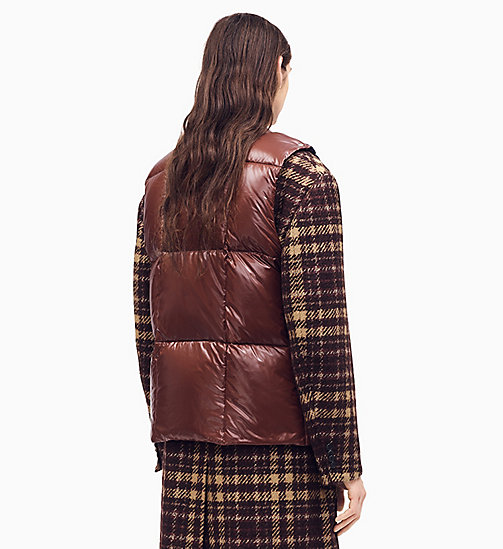 205W39NYC Quilted Jacquard Knit Down Padded Jumper - BROWN NAVY MARRON GLACE OFF WHITE - 205W39NYC CLOTHES - detail image 1