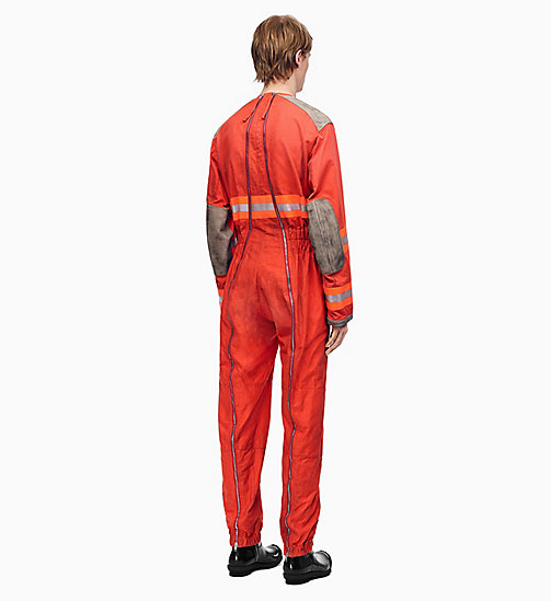 205W39NYC Jumpsuit im Fireman-Stil und in Distressed-Optik - ORANGE RED - 205W39NYC KLEIDUNG - main image 1