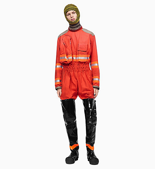 205W39NYC Distressed Fireman Jumpsuit - ORANGE RED - 205W39NYC CLOTHES - detail image 1