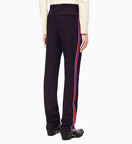 205W39NYC Straight Leg Marching Band Trousers - MARRON GLACE ORCHID DARK RED - 205W39NYC CLOTHES - detail image 1