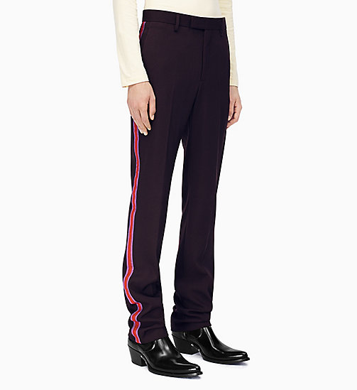 205W39NYC Straight Leg Marching Band Trousers - MARRON GLACE ORCHID DARK RED - 205W39NYC CLOTHES - main image