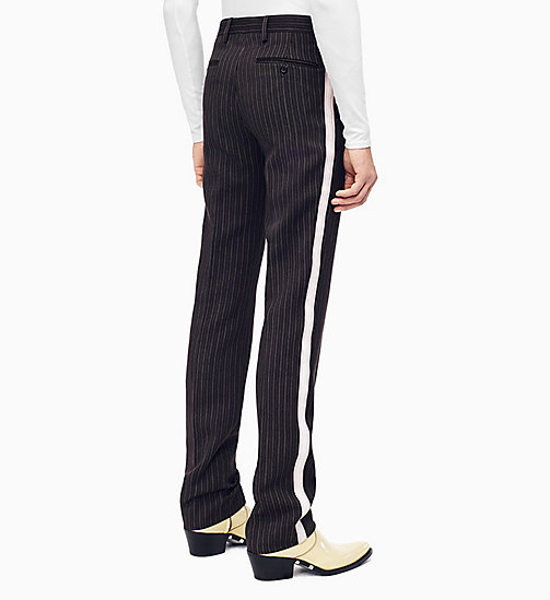 205W39NYC Straight Leg Marching Band Trousers - DARK BROWN GREY BABY PINK WHITE - 205W39NYC CLOTHES - detail image 1