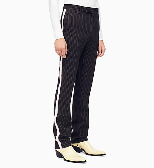 205W39NYC Straight Leg Marching Band Trousers - DARK BROWN GREY BABY PINK WHITE - 205W39NYC CLOTHES - main image