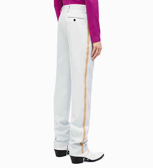 205W39NYC Straight Leg Marching Band Trousers - LIGHT AQUA BEIGE ECRU - 205W39NYC CLOTHES - detail image 1