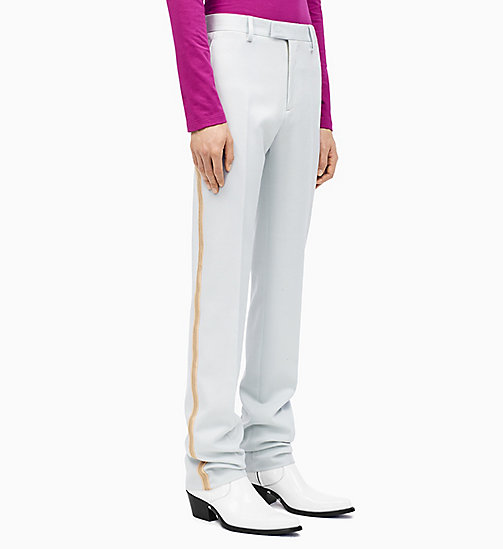 205W39NYC Straight Leg Marching Band Trousers - LIGHT AQUA BEIGE ECRU - 205W39NYC CLOTHES - main image