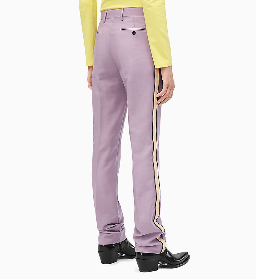 205W39NYC Straight Leg Marching Band Trousers - LIGHT AQUA BEIGE ECRU - 205W39NYC MEN - detail image 1