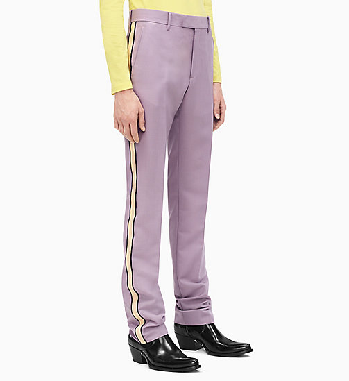 205W39NYC Straight Leg Marching Band Trousers - DUSK BEIGE BLACK - 205W39NYC CLOTHES - main image