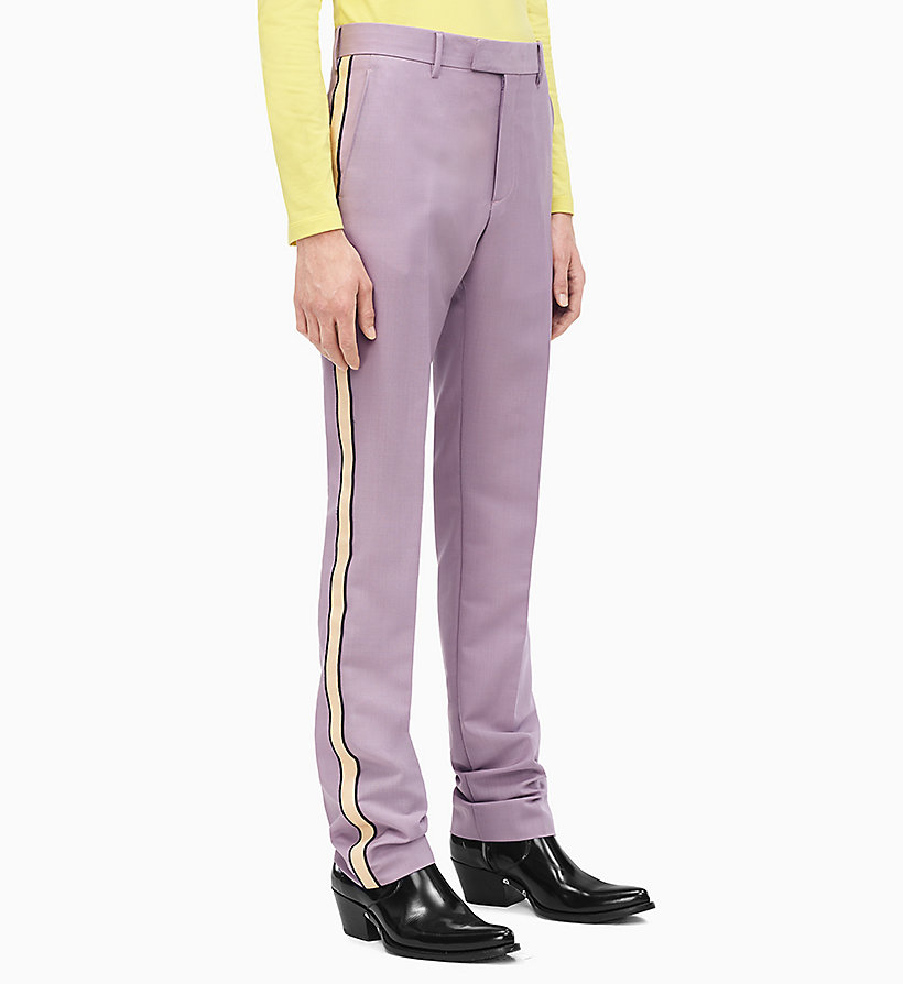 205W39NYC Straight Leg Marching Band Trousers - LIGHT AQUA BEIGE ECRU - 205W39NYC MEN - main image