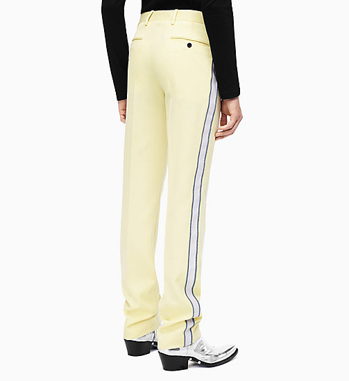 205W39NYC Straight Leg Marching Band Trousers - LIGHT YELLOW PEARL IRIS - 205W39NYC CLOTHES - detail image 1