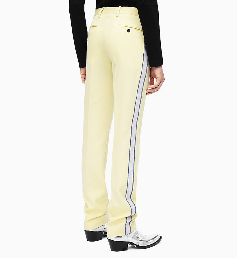 205W39NYC Straight Leg Marching Band Trousers - DUSK BEIGE BLACK - 205W39NYC MEN - detail image 1