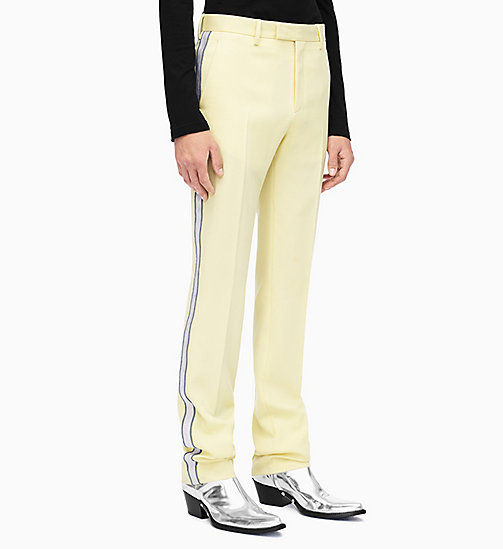 205W39NYC Straight Leg Marching Band Trousers - LIGHT YELLOW PEARL IRIS - 205W39NYC CLOTHES - main image
