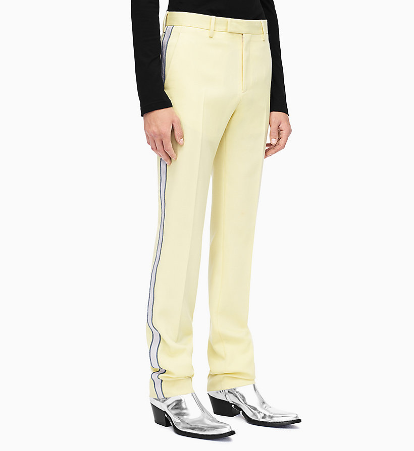 205W39NYC Straight Leg Marching Band Trousers - DUSK BEIGE BLACK - 205W39NYC MEN - main image
