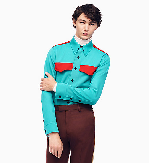 205W39NYC Klassisches Uniform-Shirt im Marschkapellen-Stil - MALACHITE CRIMSON -  KLEIDUNG - main image