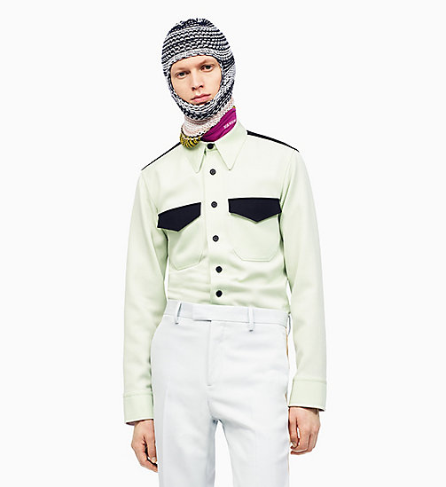 205W39NYC Klassisches Uniform-Shirt im Marschkapellen-Stil - ARCADIAN GREEN BLACK -  KLEIDUNG - main image