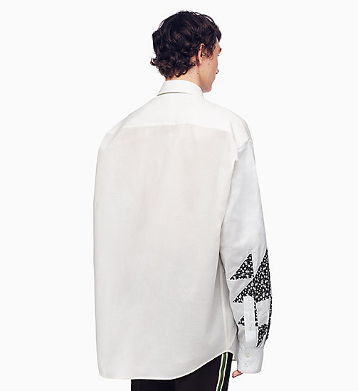 205W39NYC Oversized Quilted Shirt - IVORY OFF WHITE - 205W39NYC CLOTHES - detail image 1