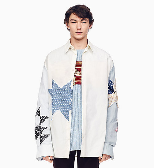 205W39NYC Oversized Quilted Shirt - IVORY OFF WHITE - 205W39NYC CLOTHES - main image