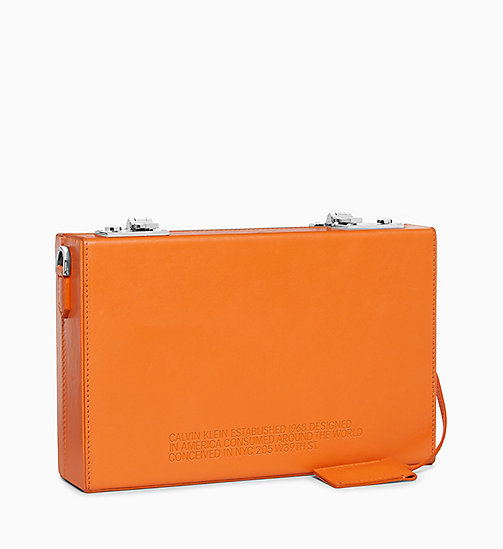 205W39NYC 5 Deaths Box Clutch in Soft Calf Leather - ORANGE - 205W39NYC SHOES & ACCESSORIES - detail image 1