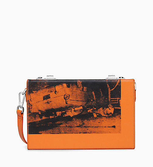 205W39NYC 5 Deaths Box Clutch in Soft Calf Leather - ORANGE - 205W39NYC SHOES & ACCESSORIES - main image