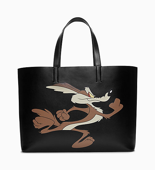 205W39NYC Wile E. Coyote Soft Tote in Leather - BLACK - 205W39NYC SHOES & ACCESSORIES - main image