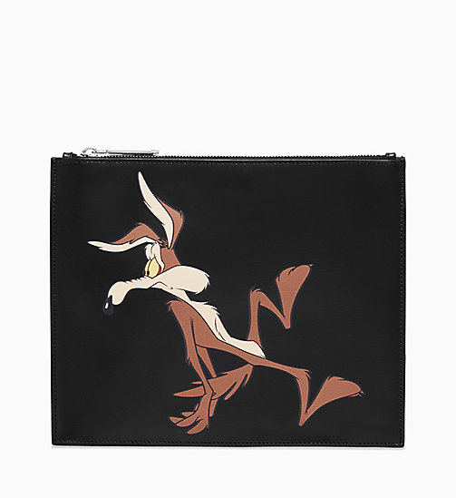 205W39NYC Wile E. Coyote Pouch in Nappa Leather - BLACK - 205W39NYC SHOES & ACCESSORIES - main image