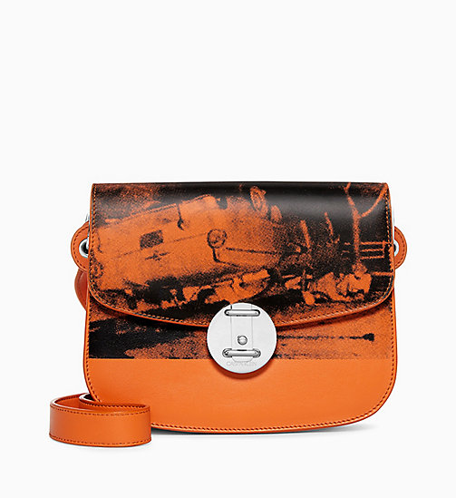 205W39NYC 5 Deaths Small Shoulder Bag in Leather - ORANGE - 205W39NYC SHOES & ACCESSORIES - main image