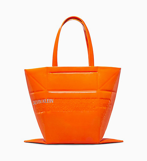 205W39NYC Geometric Tote in Patent Leather - ORANGE FLUO - 205W39NYC SHOES & ACCESSORIES - detail image 1