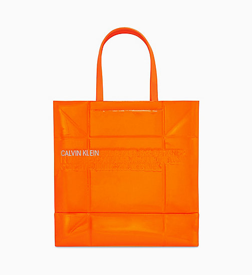205W39NYC Geometric Tote in Patent Leather - ORANGE FLUO - 205W39NYC SHOES & ACCESSORIES - main image