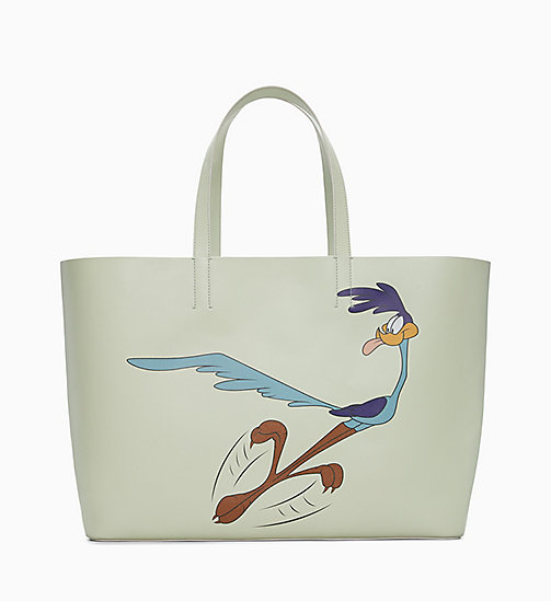 205W39NYC Road Runner Soft Tote in Leather - MIST - 205W39NYC SHOES & ACCESSORIES - main image