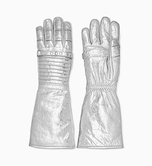 205W39NYC Leather Astronaut Gloves - SILVER - 205W39NYC SHOES & ACCESSORIES - main image