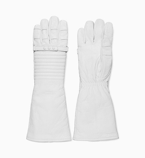 205W39NYC Leather Astronaut Gloves - WHITE - 205W39NYC SHOES & ACCESSORIES - main image