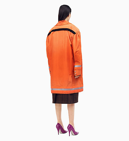 205W39NYC Distressed Couture-Sleeve Fireman Coat - ORANGE - 205W39NYC CLOTHES - detail image 1