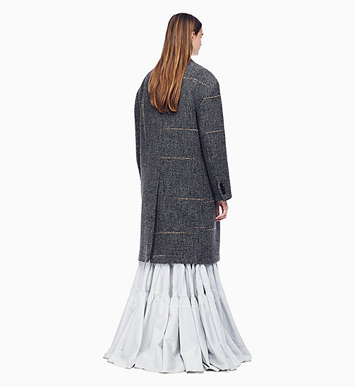 205W39NYC Zweireihiger Oversized-Mantel aus Tweed - LIGHT GREY SAND - 205W39NYC KLEIDUNG - main image 1